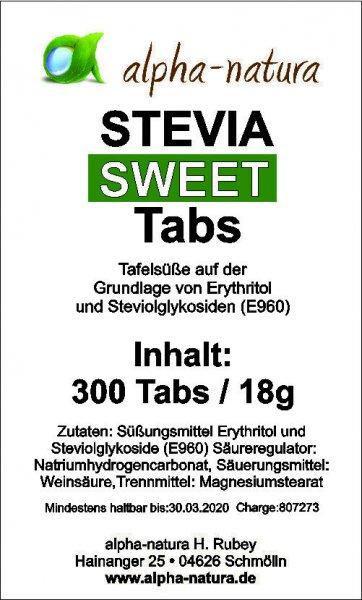300 Stevia Tabs im Spender ohne Bitterstoffe