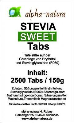 2.500 Stevia Tabs  im Nachfüllpack