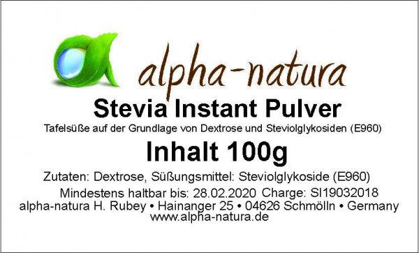 Stevia Instant Pulver in der Dose 100g