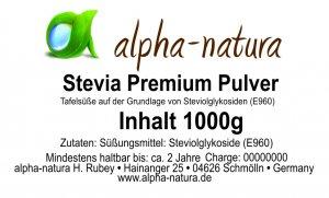 Stevia Premium Pulver 1Kg (8,95€/100g)
