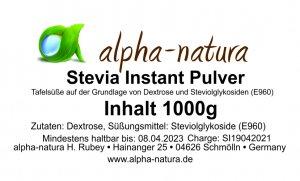 Stevia Instant Pulver 1 Kg (3,59€/100g)